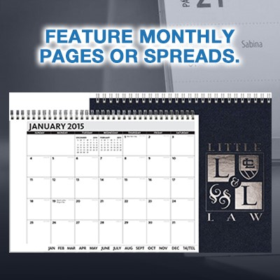 Feature Monthly Pages or Spreads