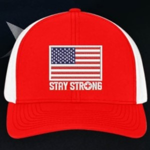 American Flag Hat, Red